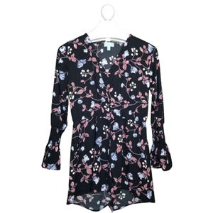 Veronica M. Long Sleeve Floral Romper Small